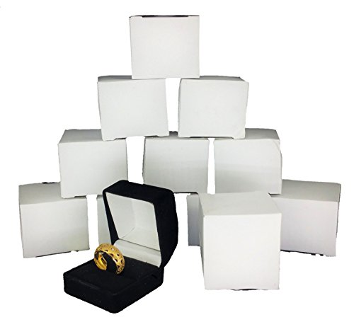 888 Display Black Flocked Ring Gift Boxes, Jewelry Display, Jewelry Box