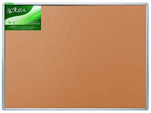 Quadro de cortiça luxo, 90cm X 60cm, Mold. Alumínio Luxo - Souza & Cia (Ref: 5403)