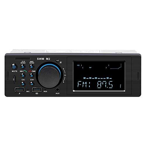 Radio Estéreo Reproductor con Bluetooth 1 DIN Headunit Conector ISO Dual USB MP3 AUX SD FM