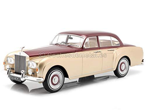 McG Rolls Royce Silver Cloud III Flying Spur Mulliner RHD 1965 beige metallic rot Modellauto 1:18