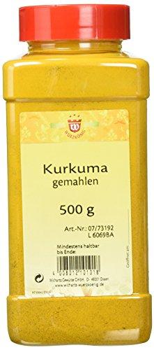 Wichartz Würzkönig Kurkuma gemahlen, 2er Pack (2 x 500 g)