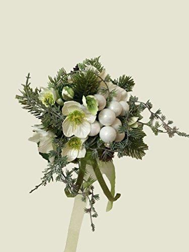 Weihnachtsstrauß Nr.1 - Strauß künstlich Winter - Liegestrauß Seidenblumen