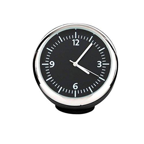 Winomo Horloge de voiture rond électronique lumineux mécanique avec aiguilles en acier (Noir)