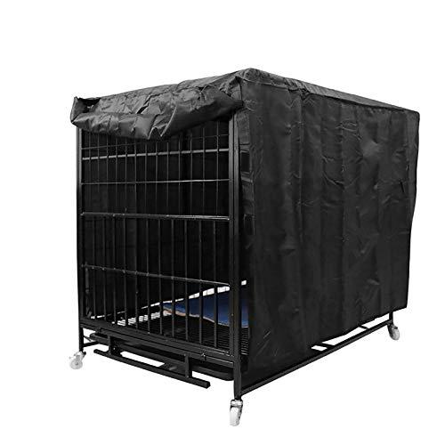 GJQDDP Hundekäfigabdeckung Haustier, Feuchtigkeitsbeständige Abdeckung, Käfigstaubabdeckung Schweres 210D Oxford-Tuch Robuste Winddichte Hundekistenabdeckung,24 inch
