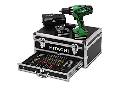 Hitachi DS14DJL WK Akku - Bohrschrauber 2x14,4V 1,5Ah + 100 zubehör + aluminium-Gehäuse