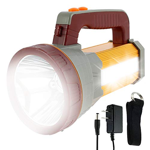 Linterna LED Alta Potencia 9000mAh Recargable Impermeable Luz Brillante Colgante Portátil para Ciclismo Camping/Senderismo/Rescate