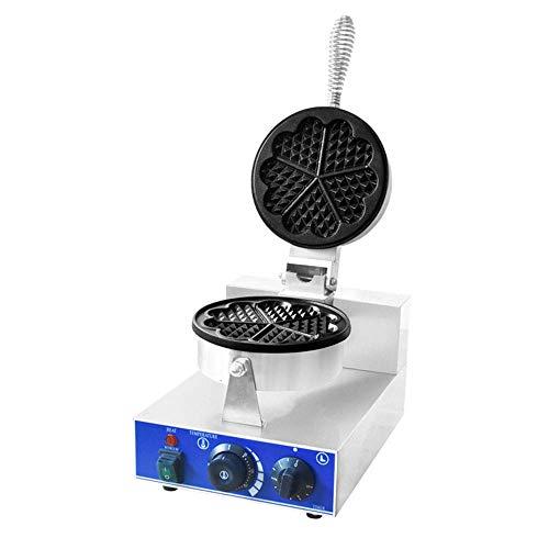 Máquina de gofres Doble Belga en Forma de corazón máquina de gofres clásica Plancha de gofres de 2 rebanadas Calentamiento Uniforme de Doble Cara para gofres en Forma de corazón paninis