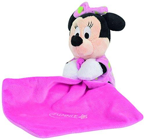 Disney Doudou - Manta para bebé con peluche (15 cm), diseño de Minnie, color rosa