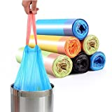 YRWL Bolsas de basura multicolor Tear-Pull para la protección...