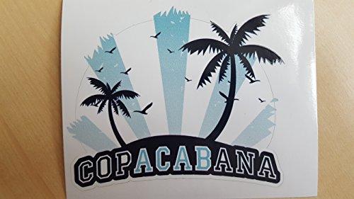 Copacabana Auto Aufkleber Sticker Oldschool Germany ACAB (Hellblau/Weiß)