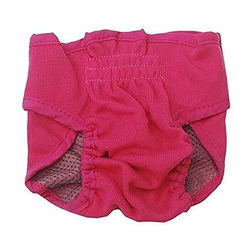 Pañal de menstruación Lavable para Perros, Pantalones Suaves y Transpirables antiacoso con Correa Ajustable para Perros pequeños (Color : Pink, Size : Large)