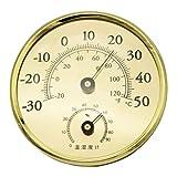 RG-FA -30-50 °C Thermometer Hygrometer Luftfeuchtigkeitsmesser Temperaturmesser gold