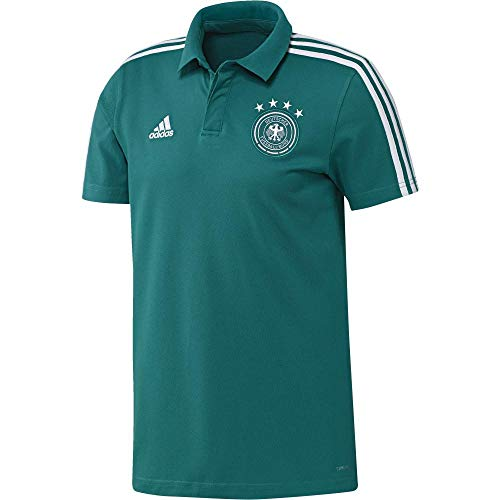 adidas Herren DFB Cotton Polo Poloshirt, EQT Green s16/White, S