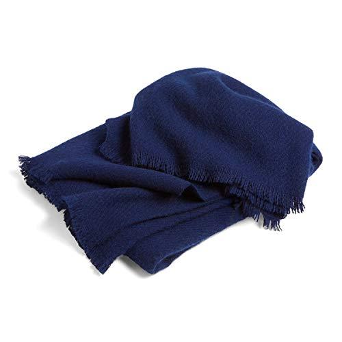 HAY - Mono Wolldecke, 130 x 180 cm, Midnight Blue