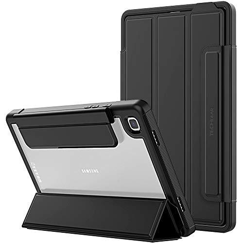 TECHGEAR Titan Funda Compatible con el Samsung Galaxy Tab A7 10.4' 2020 (SM-T500 / SM-T505) - Funda Protectora Delgada con Trasera Transparente - Niños Escuelas Constructores Trabajadores (Negro)