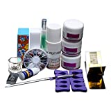 AugSep Professional acryic Powder Nail Art Decorations Kit Brush Cuticle Oil Pen Tools 75ml Full Kit (One Size, Multicolor)