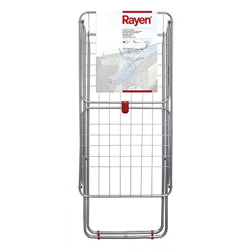 Rayen | Tendedero con alas | Superficie de tendido de 19 m | Sistema de bloqueo de alas | Tendedero plegable y antideslizante | Para interior y exterior | 54,5 x 177 x 107,5 cm