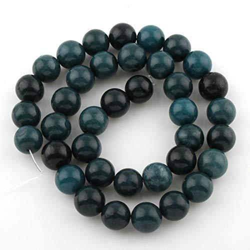 Perlin - Edelstein Indische Sapphire 4mm 6mm 8mm 10mm Rund Perlen Halbedelstein Edelsteine Strang Schmuckperlen Schmuckstein für DIY Kette Bastelset (6 mm 60stk)
