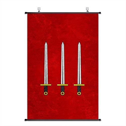 Mooie Kapitein Koning Arthur en De Ridders van De Ronde Tafel Banner Scroll Poster Embleem Print