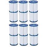 Bestway Global Holding Inc. 12 cartuchos de filtro, tamaño II, Ø 10,6 cm x 13,6 cm, 6 x 2 sets