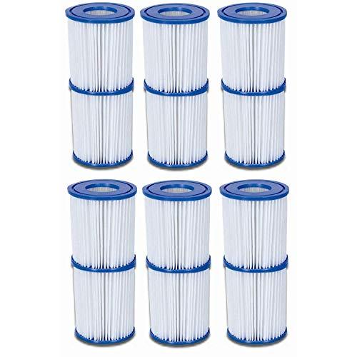 Bestway Global Holding Inc. 12 Filterkartuschen Gr.II Ø 10,6cm x 13,6cm, 6 x 2er Sets
