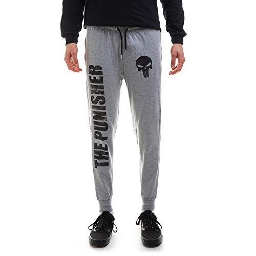 Marvel Herren The Punisher Jog Pants Trainingshose, Grey Heather, Medium