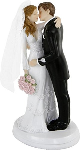 Tarta, figura para tarta,pareja de novios, pareja boda Pareja de novios besándose Tamaño: 18 cm. Material: polirresina. Contenido: 1 unidad.