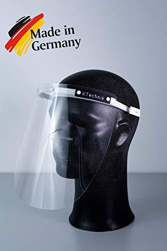 Gesichtsschutz Plexiglas - Faceshield - Hohe Qualität - Hoher Tragekomfort - Hergestellt in Deutschland