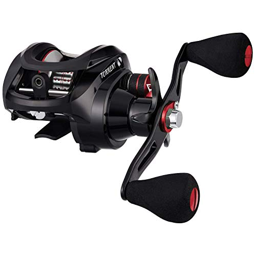 Piscifun Torrent Baitcasting Reel 5.3:1 Left Handed Bass Fishing Reel Low Profile Baitcaster