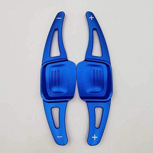 JHZQK, Palanca de Cambios de extensión para Volante de Coche, Cambio de Marchas DSG de Aluminio para Volkswagen Golf 7 MK7 Golf8 MK8 VW Polo MK6 Touareg-Blue