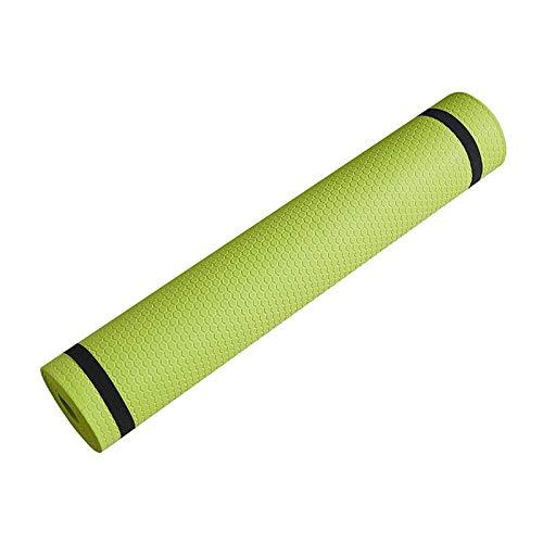 Esterilla de yoga antideslizante de 3 mm a 6 mm de grosor, espuma EVA cómoda de yoga mate para ejercicio, yoga y pilates (color: 3 mm verde)