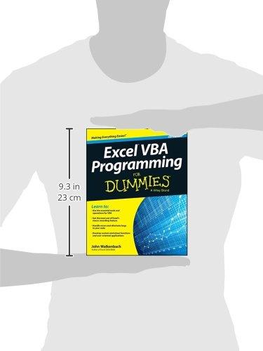 Excel Vba Programming For Dummies, 4e