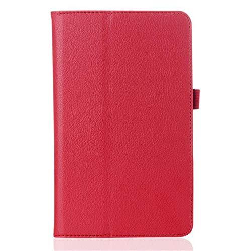 pour l'onglet Lenovo EU10 Étui TB-X104F Tablet Cas de Protection PU pour l'onglet Lenovo Tab E10 Case 10.1 10 Pouces Tablet Tablette Tablette Stand Cover-Rouge