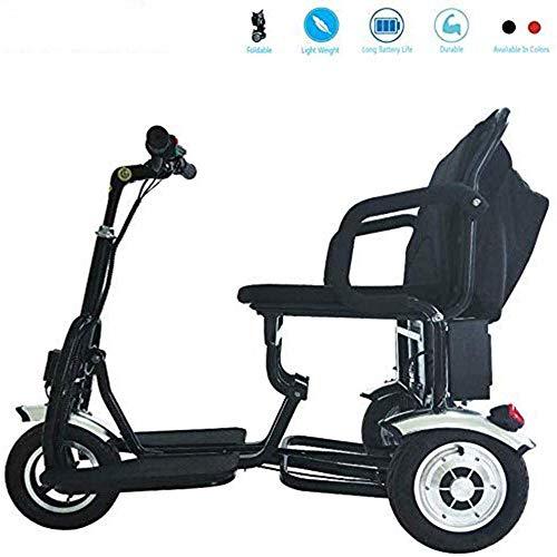 Daxiong Faltbare Elektro-Dreirad, Motorroller, Elektro-Rollstuhl Reisen Sicherheits-Travel Aid, Rot,B