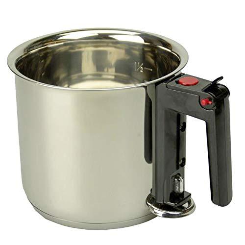 Milchtopf Simmertopf Wasserbadkocher, Edelstahl doppelwandig, ca. 1.5 Liter