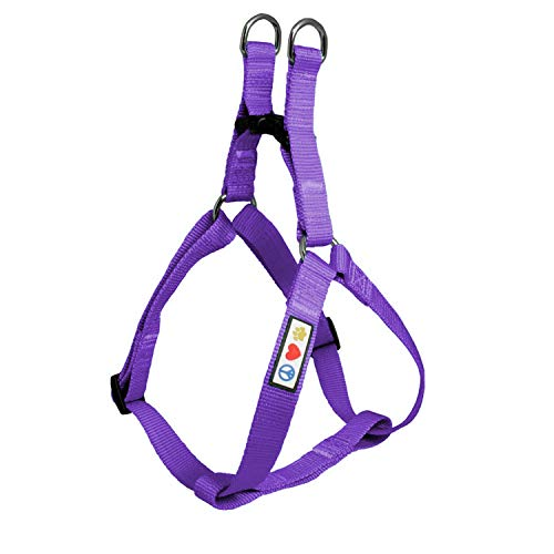 Pawtitas Solid Color Step in Dog Harness or Vest Harness Dog Training Walking of Your Puppy Harness Small Dog Harness Purple Dog Harness