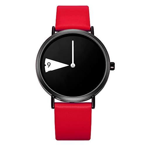 SHENGKE Reloj Minimalista para Mujer Correa de Cuero Ultrafina Moda Relojes de Cuarzo para Mujer Relojes a Prueba de Agua Reloj de Mujer,Yellow