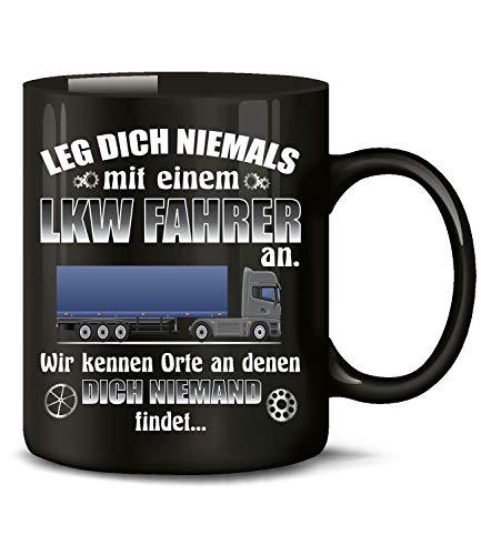 Golebros Leg Dich Nicht mit einem LKW Fahrer an 6400 Kaffee Tasse Becher Geschenk Berufs kraftfahrer Arbeits Kleidung Lastwagen Trucker Fern Schwarz