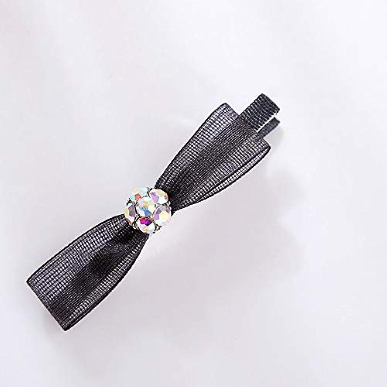 知覚できるエレメンタル下着HuaQingPiJu-JP ファッションロゼットヘアピン便利なヘアクリップ女性の結婚式のアクセサリー(ブラック)