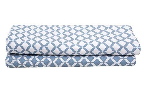 Motherhood Einschlag- und Mulltücher aus Baumwollflanell Musselin, Premium, 2 Stück, 80 x 120 cm, Blau Classics 2017