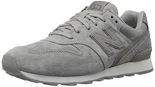 New Balance Women's 696 V1 Sneaker, Gray/White, 8.5 B US