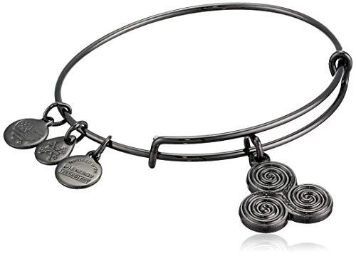 Alex and Ani Damen-Armband Triskele, Midnight Silver, erweiterbar