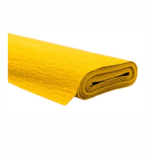 Creleo 791462 10 Rollen Krepppapier 50 x 250 cm gelb -wasserfest-, wasserfest super starke Qualität 60g/m²