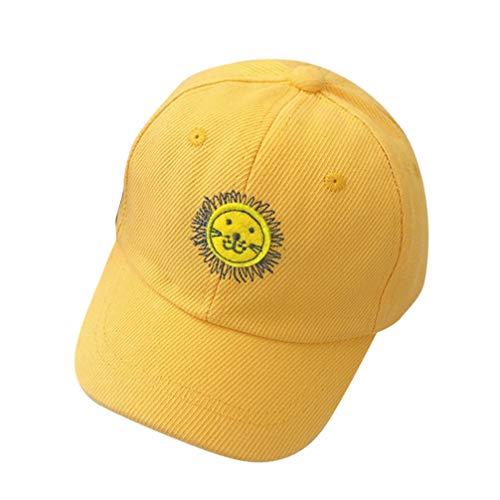 Imagen para Kesyoo - Sombrero de béisbol de verano para niños, estilo simple, estilo informal, gorro de béisbol para niño, sombrero de sol para niños y niñas de 1 a 5 años (amarillo) Amarillo amarillo