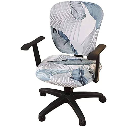 Fundas para sillas de Comedor Fundas elásticas para sillas de Oficina, Fundas para sillas de Oficina con Estampado de Spandex para computadora Fundas elásticas para sillas giratorias (Silla no inclui