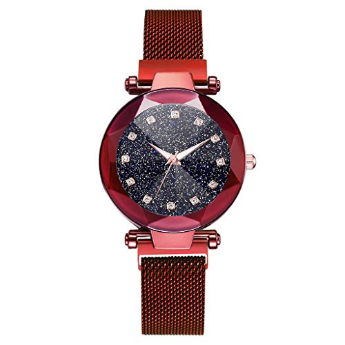 PLOT Uhren,Elegant Damen Strass Armreif Armbanduhr Spangenuhr Armspange Armkette Uhr Analog Quarzuhr