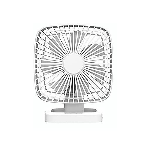 DXDHUB Ventilador pequeño de escritorio, silencioso por USB, ventilador pequeño, 4 velocidades ajustables, ideal para acampar al aire libre, oficina en casa