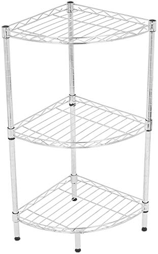 Internet's Best 3-Tier Corner Wire Shelving