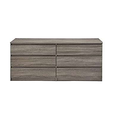 Scottsdale 6 Drawer Double Dresser