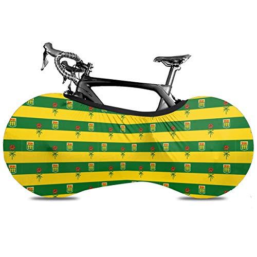 Sea Turtle Metal Wall Art Cubierta de Bicicleta Portátil Interior Anti Polvo Alta Elástica Cubierta de Rueda Cubierta de Bicicleta Protector Rip Stop Neumático Carretera MTB Bolsa de Almacenamiento, Bandera de Canadá de Saskatchewan, talla única